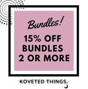 Other - 15% OFF ON BUNDLES OF 2 OR MORE